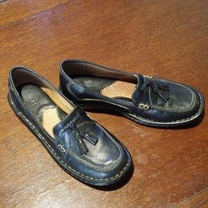 Born Loafers size 7 1/2 M/W black/ Tan